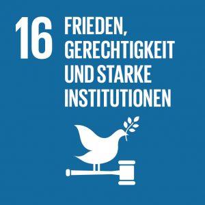 Ziel 16 Frieden, Gerechtigkeit und starke Institutionen